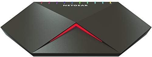 Netgear Nighthawk S8000 GS810EMX Switch Gaming Smart Managed Plus a 10 Porte Gigabit/10G Multi-Gig, con 2 Porte 10G/Multi-gig, Bassa Latenza per Streaming Reattivo, Alloggiamento Cool-Touch Desktop