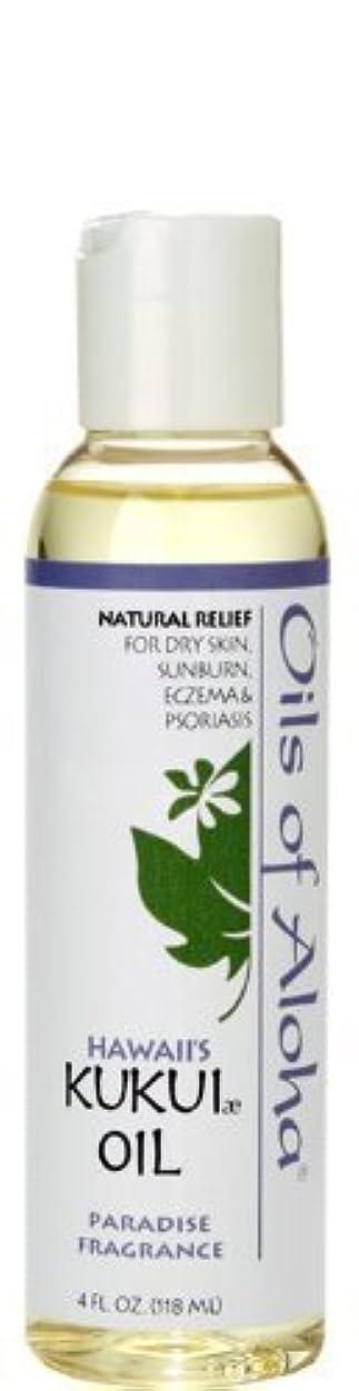 風が強い最大限没頭するオイルズ オブ アロハ(Oils Of Aloha) Kukui Skin Oil Paradise Fragrance 4oz 118ml