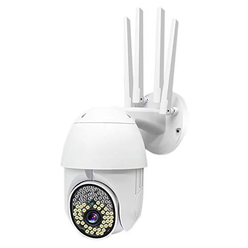 Fltaheroo CáMara PTZ Al Aire Libre Impermeable 1080P HD Seguimiento de Movimiento CáMara de Seguridad de Vigilancia IP CáMara InaláMbrica Wifi Enchufe de la UE
