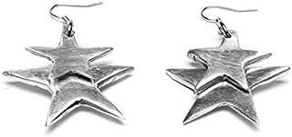 aluminati upcycling lifestyle Damen-Ohrringe - 100% recyceltes Aluminium - Modell2 Etoiles