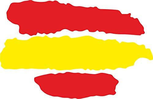 INDIGOS UG - Pegatina - 2 Pegatinas para Coche - JDM - Die Cut - Coche - Bandera España - España - 3 Rayas - 70x50 mm - Ventana Trasera - para Ventana Trasera Barco Coche Tuning camión