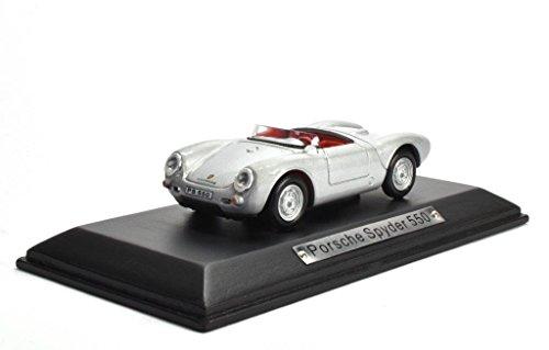 Porsche Spyder 550 silber 1:43 Atlas DieCast metall Modellauto neu und box