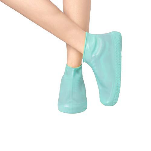 Fundas de silicona reutilizables impermeables para zapatos, antideslizantes, plegables, protectores de zapatos plegables para lluvia, para niños y niñas (azul, S)