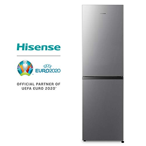 Hisense RB327N4AD2 Kühl-Gefrier-Kombination/A++/Total No Frost/Multi Air Flow/55cm Breite/Türanschlag wechselbar 182,4 cm hoch und 55 cm breit Edelstahl