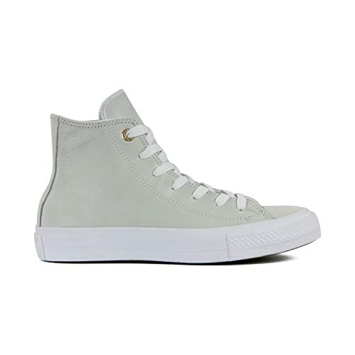 Converse Chuck Taylor All Star High Classic CTAS Hi - Zapatillas altas de lona, unisex, con pegatina de 7 km/h, color Gris, talla 41 EU