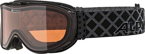ALPINA CHALLENGE S 2.0 Skibrille, Unisex– Erwachsene, black transparent, one size