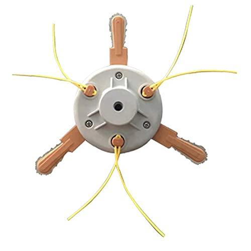 Reemplazo de la cabeza cortadora de césped de nylon Cortadora de cesped con Metal Navaja de doble uso para el hogar Jardín Accesorios Hardware Herramientas
