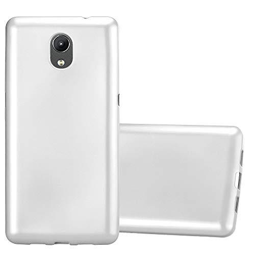 Cadorabo Hülle für Lenovo P2 in METALLIC Silber - Handyhülle aus flexiblem TPU Silikon - Silikonhülle Schutzhülle Ultra Slim Soft Back Cover Hülle Bumper