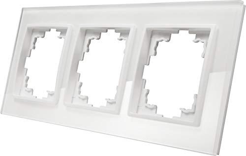 Kristallglas Glasrahmen 3-fach - Serie GLAS weiß