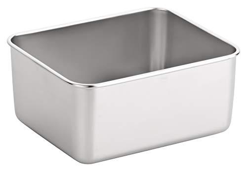 Alpha-Stahl Edelstahl Box 13,5x10,5x6cm – Aufbewahrung & Ablage Hygienisch von Lebensmittel, Kosmetik, Tattoo-Werkzeug UVM. – Stapel-Bar (1er,2er o. 3er Pack) (1)