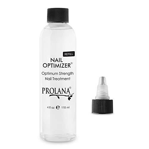 Prolana Nail Optimizer One-Step Multi Use Nail Fortifier, Nail Hardener, Nail Strengthener - Optimum Strength Nail Treatment (Refill Size) 4 oz/ 120 ml