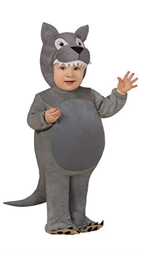 FIESTAS GUIRCA Disfraz de Lobo de Pijama Kigurumi Desigual para bebé tutone