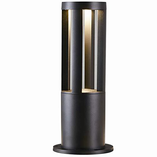 HKLY 7W Foco Exterior LED, Lámpara Poste De Jardin Aluminio Luces De Césped Impermeable IP65, Poste De Camino LED Iluminación Exterior Para Jardineras, Calzada, Patio, Cesped, Pathway