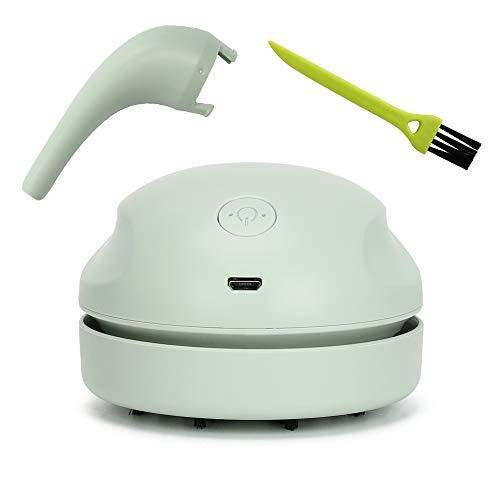 Brynnl Mini Desktop-Reiniger, wiederaufladbarer Desktop-USB-Staubsauger Handlicher Akku-Staubsauger Tragbarer Desktop-Staubreiniger für PC-Tastatur Autositz Persönliche Kleidung Tischreinigungstool