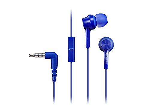 Panasonic RP-TCM115E-A In-Ear Kopfhörer (Headset, Mobiltelefonie, wechselbare Pass-Stücke (S/M/L)) Blau