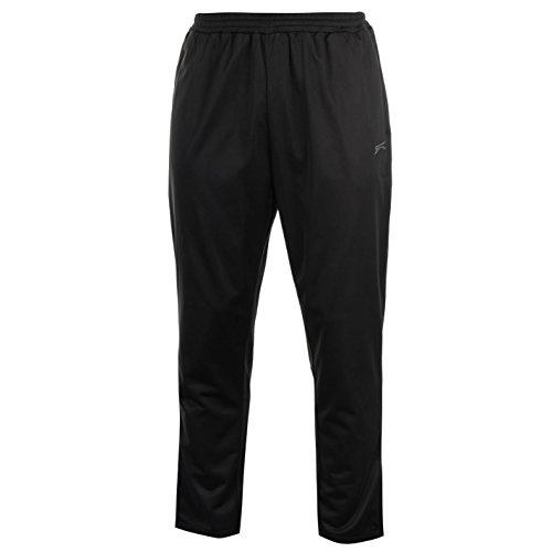 Slazenger Herren Workout Jogginghose Fitness Hose Trainingshose Sporthose Schwarz Extra Lge