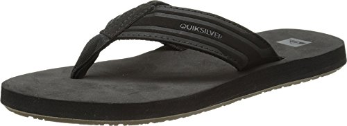 Quiksilver Herren Monkey Wrench Flops for Men Flip-Flop, Schwarz Black Black Brown Xkkc, 39 EU