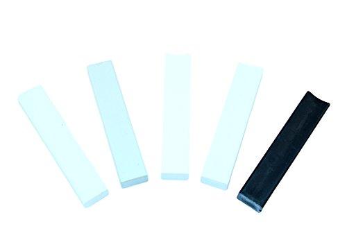 SN-TEC Hartwachs Sortiment für RAL-Töne, Weiß, Grau und Schwarz (Set mit 5 Stangen)