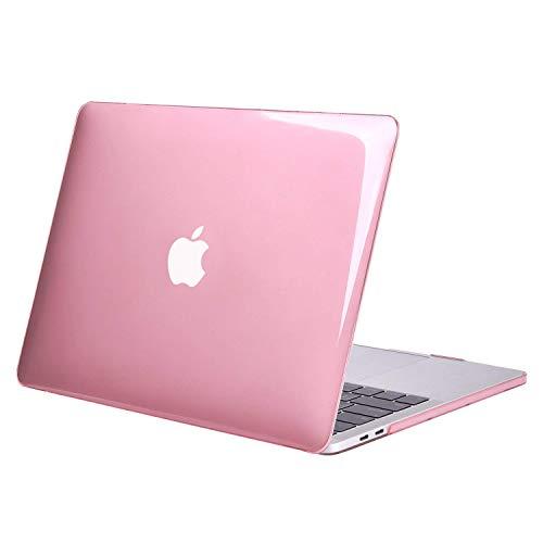 MOSISO Coque Compatible avec MacBook Pro 13 Pouces A2159 A1989 A1706 A1708 2019-2016, Ultra Slim Coque Rigide Compatible avec MacBook Pro 13 Pouces avec/sans Touch Bar&Touch ID, Cristal Rose
