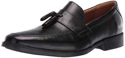 Clarks Men's Tilden Stride Loafer, Black Leather, 090 W US