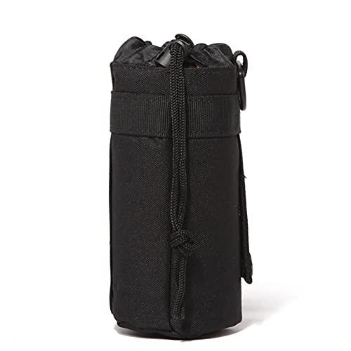 Tuimiyisou Botella de Agua, hidratación Carrier Bolsa, Bolsa Caldera Carrier Titular de la Correa para IR de excursión Acampar Correr Negro ?? ?17? * 8cm