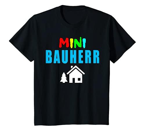 Kinder Mini Bauherr Kinder Geschenkidee Richtfest T-Shirt