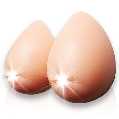 tetas pechos silicona realista - travestis pecho silicona crossdresser implante mamario después de la mastectomía aumento de senos mujeres y hombres CUP AA 316 Gramm