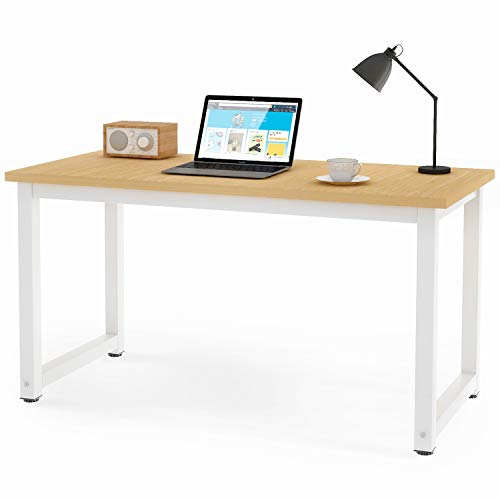LIFE CARVER Simple Computer Desk 120 x 60 x 75cm Table Home Office Desk Workstation Laptop Writing Study Wood and Metal