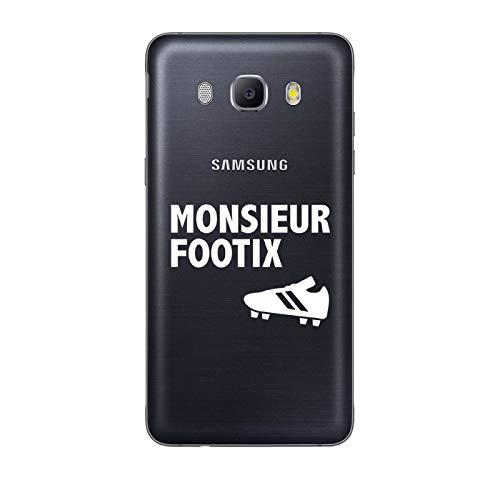 ZOKKO - Carcasa para Samsung Galaxy J5 2016, diseño de Monsieur Footix, Color Blanco
