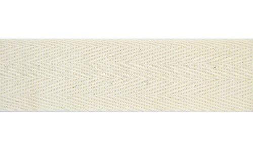 NTS Nähtechnik 50m Rolle Köperband, Nahtband aus 100% Baumwolle (rohweiß, 20mm)