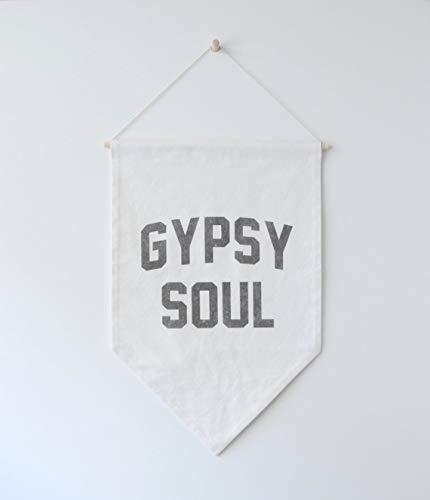 Grote Zigeuner Vlag voor zigeuners, Gratis Spirit Wall Banner, Citaat Banner, Hangende Banner, Wandophanging, Canvas, Afstudeergeschenk Muur Banner Vlag