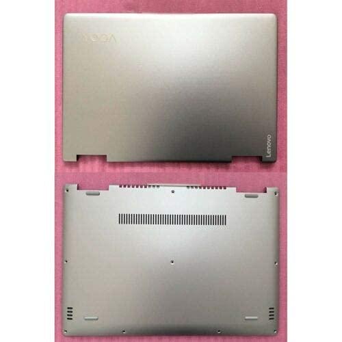 ZGQA-GQA Nuevo para la Cubierta del LCD y la Tapa Inferior de la Carcasa Inferior para Lenovo Yoga 710 14ISK 14IBK Silver (Color : Default)