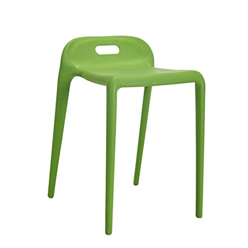 CKH Personality Hocker Originalität Kunststoff Stuhl Simple Fashion Reception Chair Modern Dining Chair grün