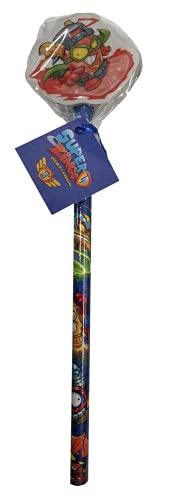 CYP- LÁPIZ con Goma Decorada SUPERZINGS Articulos papeleria, Color (Multicolor) (8426842084848)