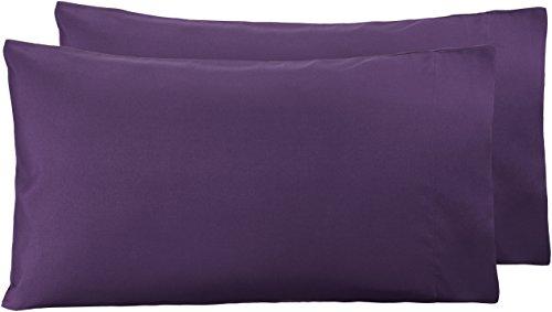 Amazon Basics - Funda de almohada de microfibra, 2 unidades, 50 x 80 cm - Ciruela