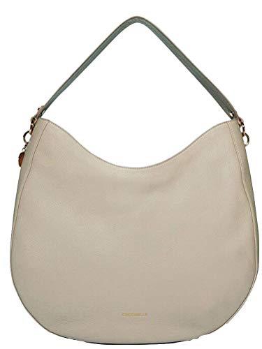 Coccinelle borsa a spalla donna un manico pelle seashell beige