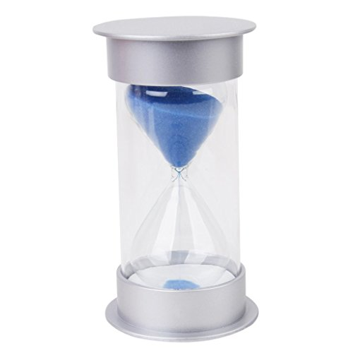 ZYAQ Security Fashion Hourglass Sandglass Sand Timer Clock Home Decor for Children (25 Minutes, Blue)
