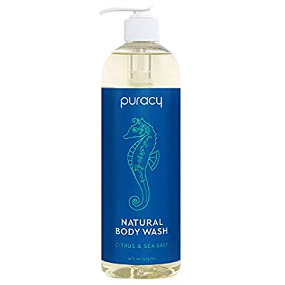 Puracy Natural Body Wash, Citrus & Sea Salt, Sulfate-Free Bath and Shower Gel, 16 Ounce (2-Pack)