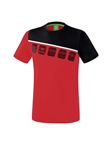 ERIMA Kinder T-shirt 5-C, rot/schwarz/weiß, 164, 1081902