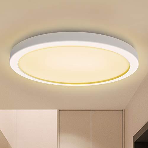 BENMA LED Deckenleuchte, 18W Deckenlampe, Bad-Beleuchtung Deckenleuchten Ø18cm 3000K Badezimmerlampe Spritzwassergeschützt Badleuchte Schlafzimmer Balkon Lampe (Warmes Licht)
