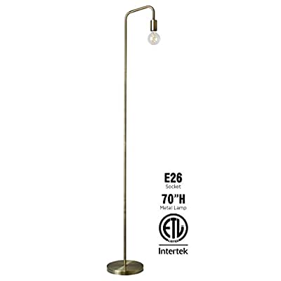 O'Bright Industrial Floor Lamp for Living Room, 100% Metal Lamp, UL Certified E26 Socket, Minimalist Design for Decorative Lighting, Stand Lamp for Bedroom/Office/Dorm, ETL Listed