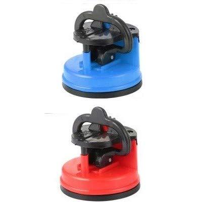 EUROXANTY® - Affilacoltelli manuale con ventosa leggera blu e rosso (confezione da 1)