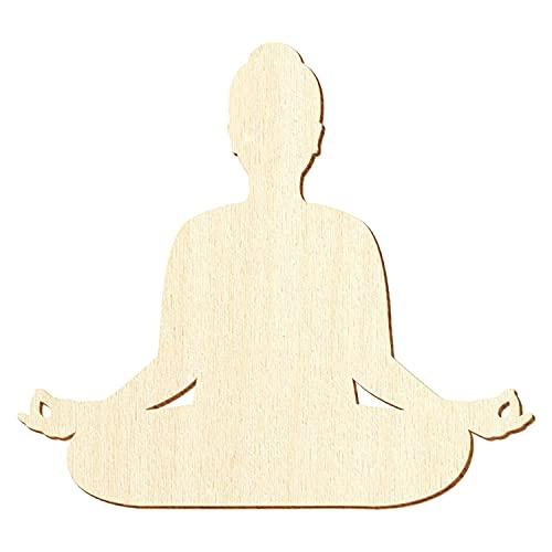 Yogabox Lotus sitz - Posición de yoga (madera, 5-50 cm, 50 unidades, 16 cm de ancho)