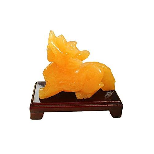 ZGZNB Natürlicher Kristalltopas Pixiu Feng Shui Ornamente Füllhorn Rauer Stein