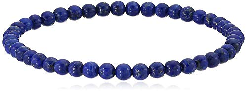 4 mm Smooth Round Lapis Lazuli Stretch Bracelets, 7'
