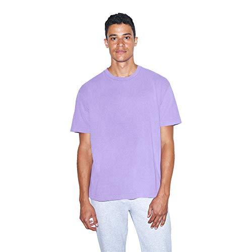 American Apparel Men's Heavy Jersey Box Short Sleeve T-Shirt, Faded Lavender, Medium