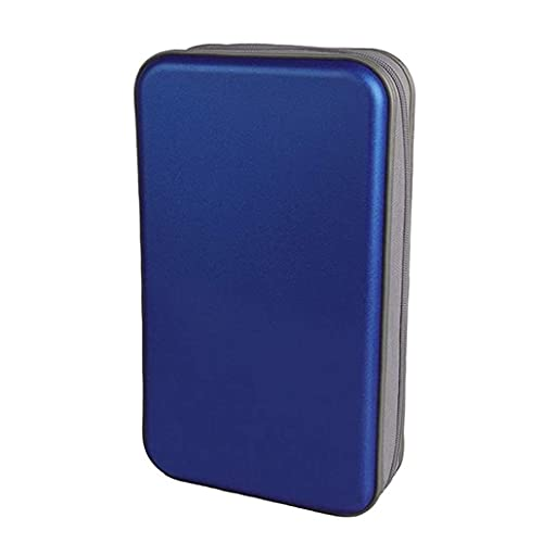 CD houder CD Case Wallet DVD Binder DVD Organizer Storage Bag Hard 80 capaciteit draagbare Blue Storage Boxes Holder