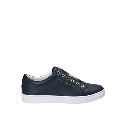 Tommy Hilfiger FW0FW02828ICONIC Metallic Slip On Donna Midnight 40