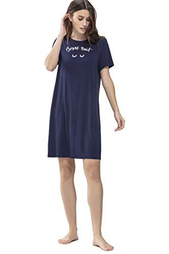 Mey Night Sleepy & Easy Damen Nachthemden Blau 44