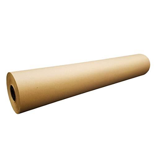 GP Globe Packaging Rouleau de papier cadeau en papier kraft marron résistant 750 mm x 100 m 90 g/m² – 100 mètres